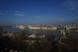 Landscape view from the Buda castle area in Budapest