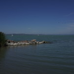 Lake Balaton - sailing ships in the background.