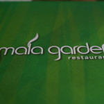 Cover of the menu in Mala Garden restaurant in Siofok, Hungary.
