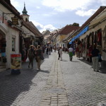 Shopping promenade in Szentendre, Hungary.