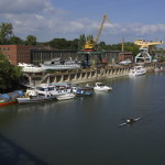 Ujpest shipyard Island in Hungary by Sony digital camera